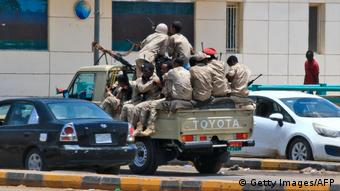 Members of Sudan's security forces patrol on June 6, 2019 in Khartoum (Getty Images/AFP)
