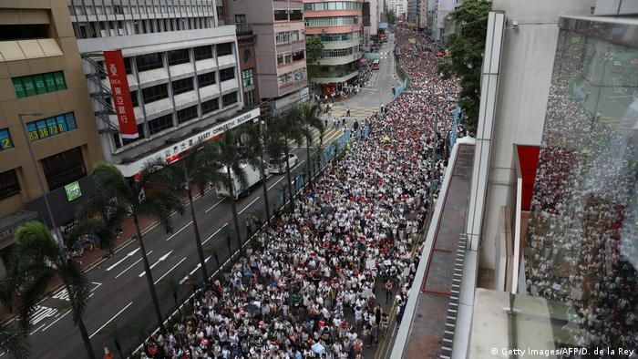 Hong Kong protest against proposed extradition law (Getty Images/AFP/D. de la Rey)
