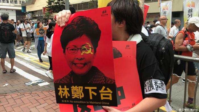Hongkong Demonstration des Gesetzes gegen die Auslieferung (DW/V. Wong)