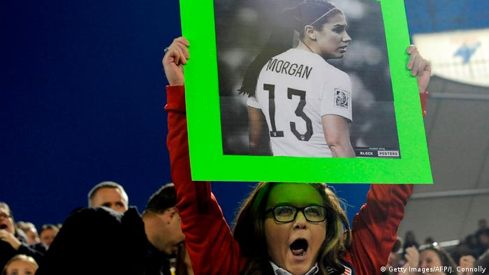 Frauenfußball USA vs Australien Alex Morgan Fans (Getty Images/AFP/J. Connolly)