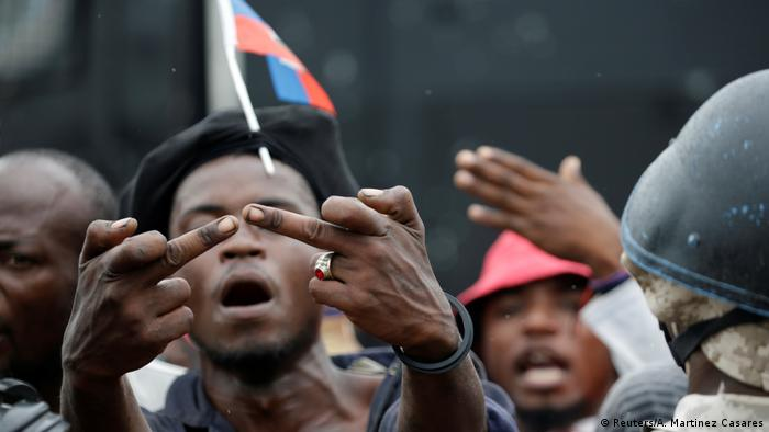Haiti Port au Prince Anti Regierungsproteste (Reuters/A. Martinez Casares)