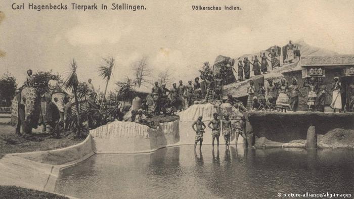 Deutschland Postkarte Tierpark Hagenbeck
