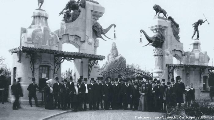 Deutschland Eingang Tierpark Hagenbeck 1907