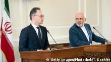 Iran   Außenminister Maas und Sarif auf Pressekonferezenz