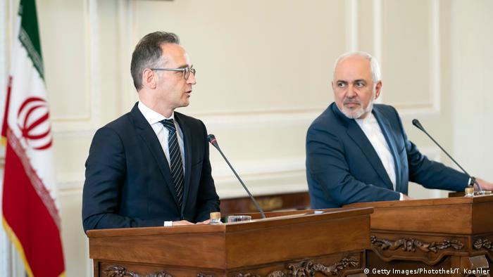Iran | Außenminister Maas und Sarif auf Pressekonferezenz