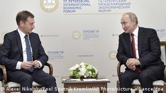 Михаэль Кречмер на встрече с Владимирым Путиным в Санкт-Петербурге