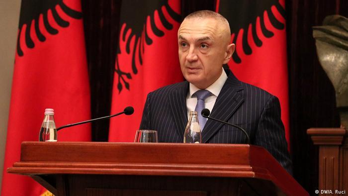 Albanien Präsident Ilir Meta (DW/A. Ruci)