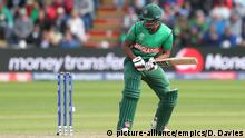 England v Bangladesh - ICC Cricket World Cup - Group Stage - Cardiff Wales Stadium. Bangladesh's Mohammad Saifuddin watches as the ball hits the wicket but the bails stay on during the ICC Cricket World Cup group stage match at the Cardiff Wales Stadium. Picture date: Saturday June 8, 2019. See PA story CRICKET England. Photo credit should read: David Davies/PA Wire. RESTRICTIONS: Editorial use only. No commercial use. Still image use only. URN:43400421 |