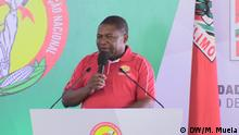 Mosambik Quelimane - Präsident Mosambiks Filipe Nyusi bei Treffen