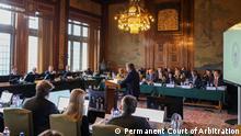 Gerichtsprozess (Streit über Seerecht) zwischen Russland und Ukraine in den Haag