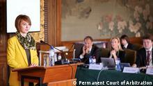 Olena Zerkal von der Ukrainischen Delegation in Haag, Juni 2019 Copyright: Permanent Court of Arbitration https://pca-cpa.org/en/cases/149/