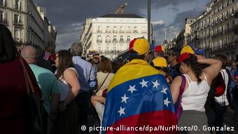 Manifestación de venezolanos en Madrid (picture-alliance/dpa/NurPhoto/O. Gonzalez)