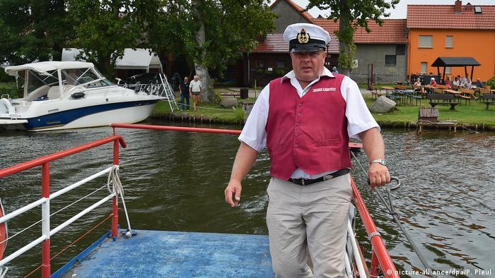 Maik Slotta, a ferryman from Brandenburg, Germany
