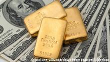 Symbolbild USA | Geldanlage in echtem Gold