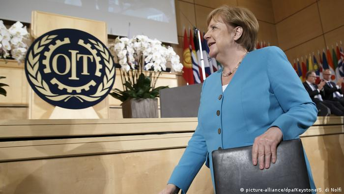 Schweiz Jubiläumskonferenz der Internationalen Arbeitsorganisation | Angela Merkel, deutsche Bundeskanzlerin
