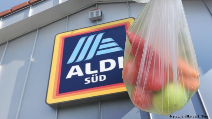 An Aldi plastic bag