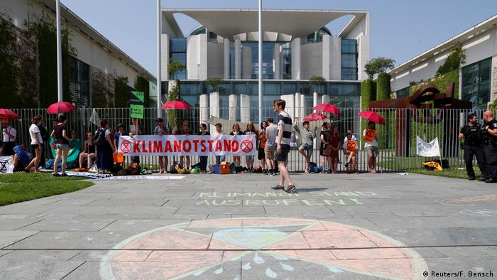 Climate activists in Berlin