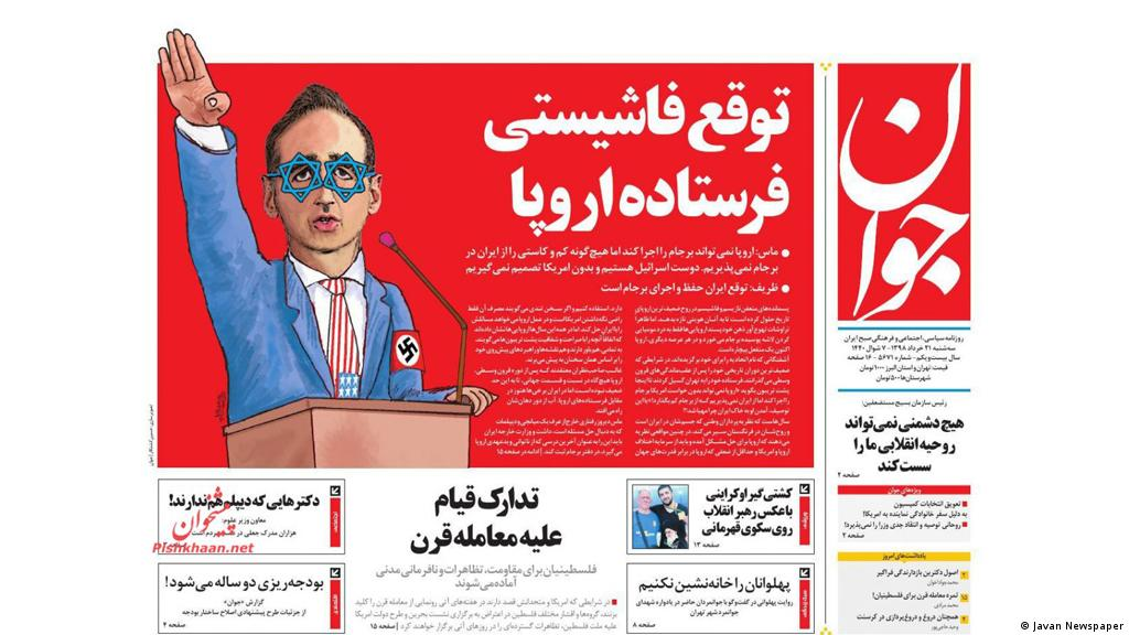 Iran media depicts German Foreign Minister Heiko Maas as a