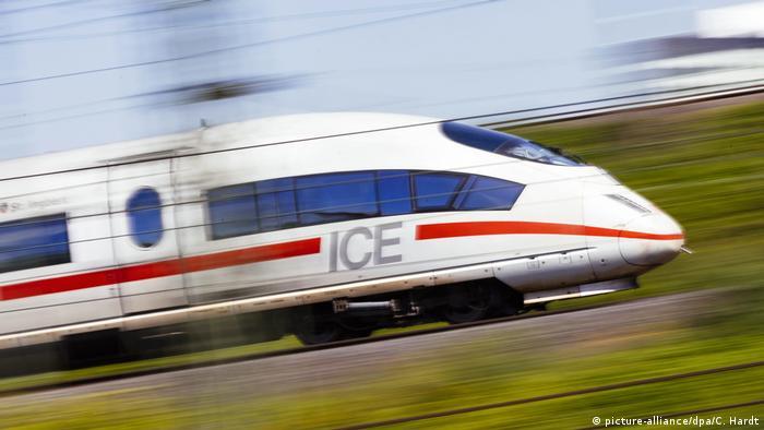 A fast German train near Cologne