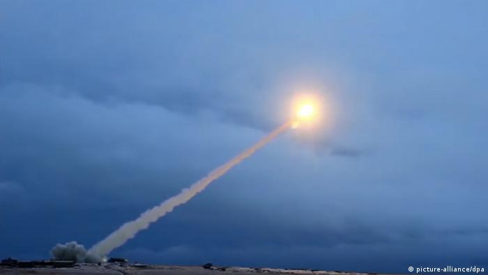 Russian military test of a Burevestnik nuclear cruise missile (picture-alliance/dpa)