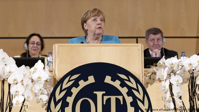 Internationale Arbeitskonferenz ILO Angela Merkel (picture-alliance/AP Photo/S. Di Nolfi)
