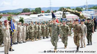 KFOR military ceremony in Pristina Kosovo (Office of the Kosovo prime minister)