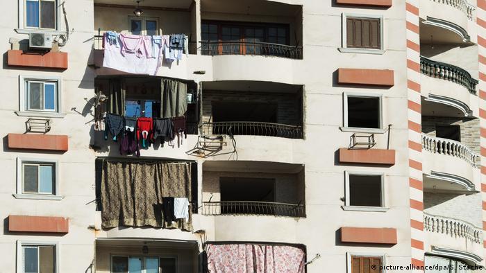 Stadtansicht Kairo Wohngebäude syrische Flüchtlinge