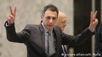 Nizar Zakka, libanesischer Staatsbürger und ständiger Einwohner der USA, wurde nach fast vier Jahren Haft wegen Spionage in Teheran freigelassen (picture-alliance/H. Malla)