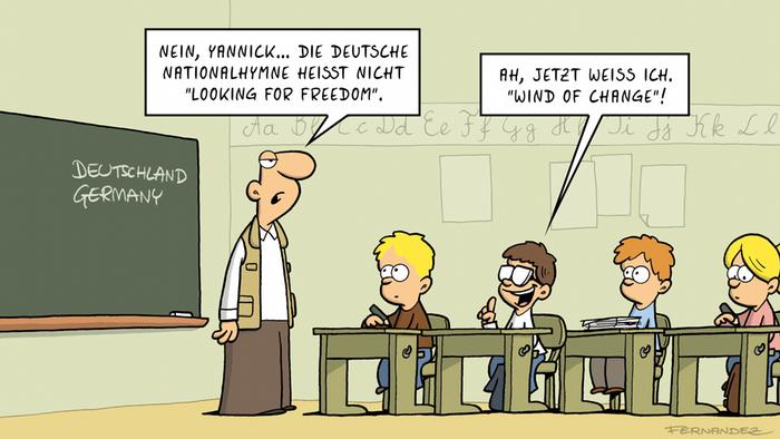 Fernandez-Cartoon zeigt Kinder in einer Schulklasse (Miguel Fernandez)
