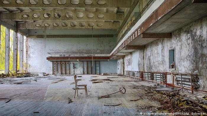 A deserted room after the Chernobyl disaster
