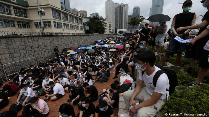 Hong Kong Demonstration gegen das Zulassen von Auslieferungen nach China (Reuters/A. Perawongmetha)