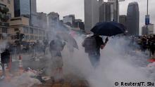 Hong Kong Demonstration gegen das Zulassen von Auslieferungen nach China