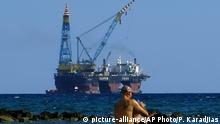Zypern Erdgas Bohrinsel vor der Küste
