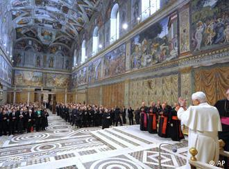 Pope Benedict in the Sistine Chapel