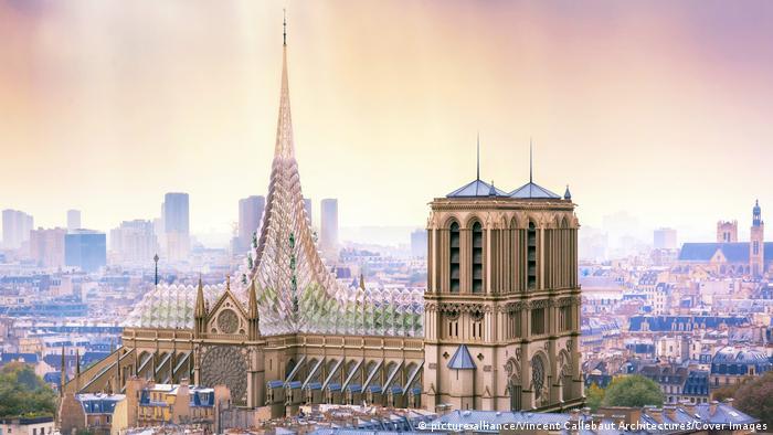Frankreich Paris | Wiederaufbau Kathedrale Notre-Dame de Paris | Entwurf Vincent Callebaut Architecture (picture-alliance/Vincent Callebaut Architectures/Cover Images)