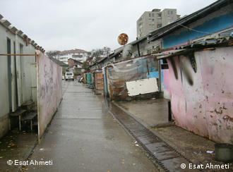 Лагерь для беженцев-цыган в Митровице