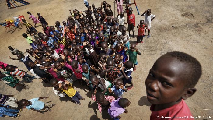 South Sudanese refugee children in Uganda