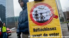 Belgien Brüssel - Demonstration für die Rechte Flüchtlingen