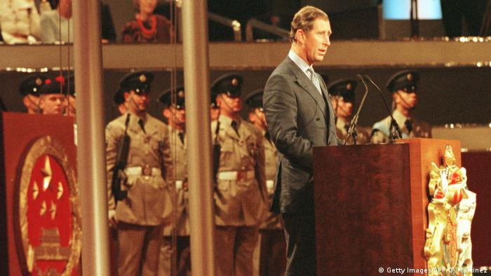 Hongkong 1997 | Zeremonie Übergabe Großbritannien an China | Charles, Prince of Wales (Getty Images/AFP/D. Martinez)