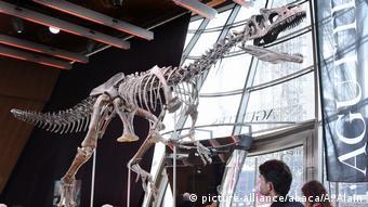 Δημοπρασία ενός δεινόσαυρου 155 εκ. ετών με φόντο τον Πύργο του Άιφελ στο Παρίσι