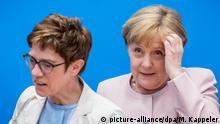 Berlin | Annegret Kramp-Karrenbauer und Angela Merkel