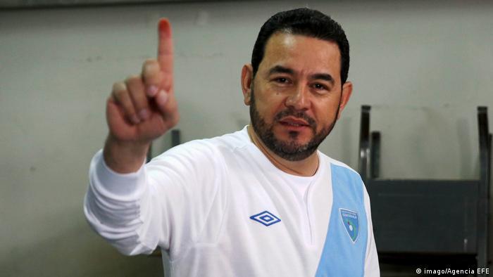 Jimmy Morales, presidente de Guatemala.)
