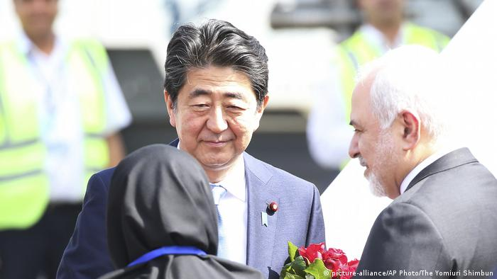 Japanese PM Shinzo Abe arrives in Iran