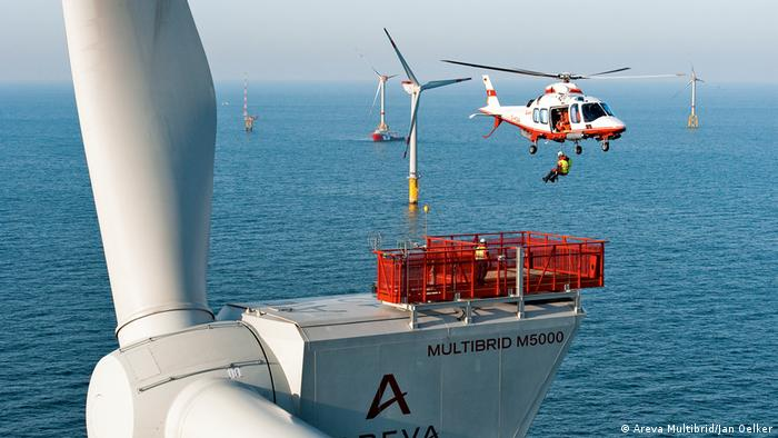 Offshore-Windpark alpha ventus (Areva Multibrid/Jan Oelker)