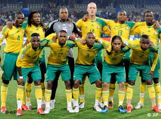 The South African team line-up before a recent game