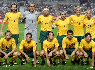 Australia's national soccer team players