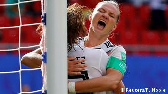 Germany's female footballers are in the knockout stages of the World Cup