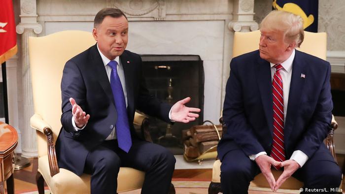 Президенты Польши и США Анджей Дуда и Дональд Трамп, июнь 2019 года