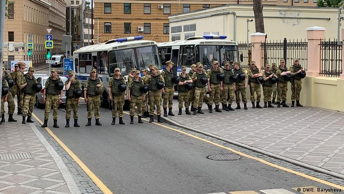 Полицейское оцепление