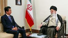 Shinzo Abe, japanischer Ministerpräsident bei Ali Khamenei in Tehran am 13.06.2019. Quelle: Ilna Copyright: frei